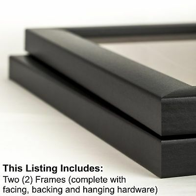 Craig Frames 1Wb3Bk 8 by 12-Inch Picture Frame 2-Piece Set Smooth Finish 1-In...