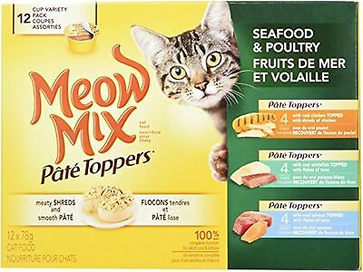 Meow Mix P?t? Toppers Variety 12-pack Cat Food