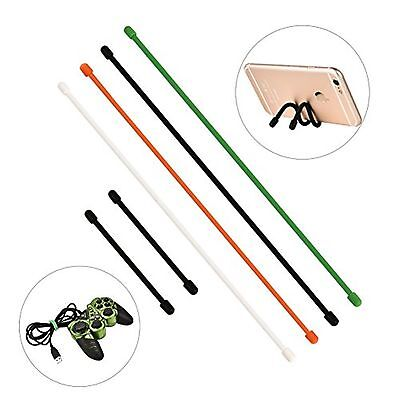 Newlemo Reusable Twist Ties Rubber Gear Ties Cable Ties Assorted for Electron...