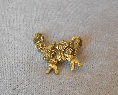 French Antique BRONZE Plaque Ornament NAIL COVER