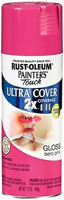 Rust-Oleum 249123 Painter's Touch Multi Purpose Spray Paint 12-Ounce Berry Pink