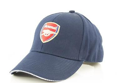 Arsenal FC Team Crest Junior Supporters Hat Official EPL Basic Baseball Cap