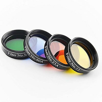 Solomark 1.25 Inches 4pcs Color Filter Set for Telescope Eyepiece - No.12 Yel...