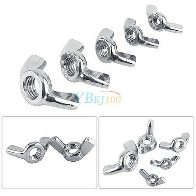 10pcs M3 M4 M5 M6 M8 316 Stainless Steel Wing Nuts Butterfly Nut Set DIN315 NEW