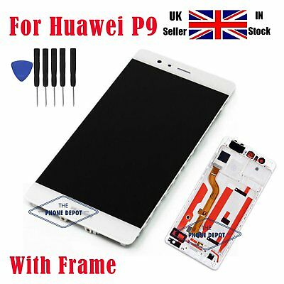 For Huawei P9 EVA-L09 LCD Screen Replacement Display Touch Digitizer With Frame