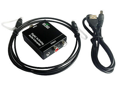3.5mm Digital Optical Coaxial Toslink SPDIF to Analog RCA Audio Converter for TV