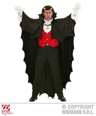 Fancy Dress Adults Halloween Jagged Edge Full Length Vampire Cape 150cm Dracula
