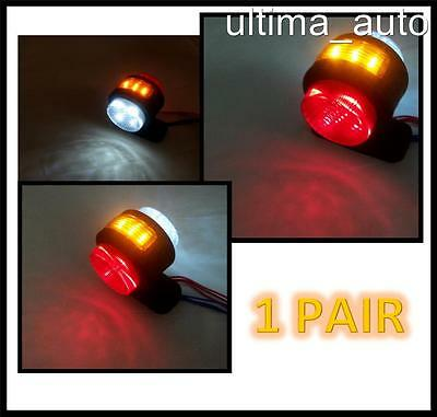 16 X Led Front Rear Side Marker Indicator Lights For Truck Trailer Lorry 24V