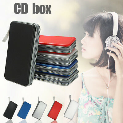 80 Disc DVD CD Holder Wallet Car Carry Storage Sleeve Case Album Bag Cover Box