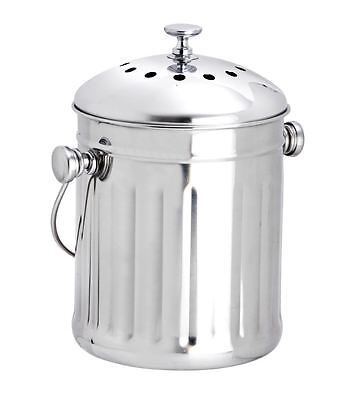 Eddingtons Stainless Steel Mini Compost Pail Bin 22cm x 15cm 83111