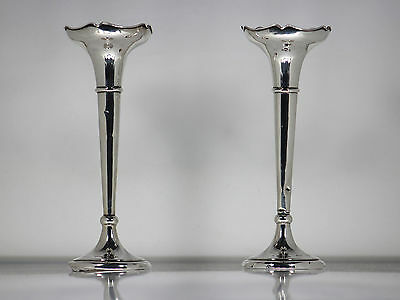 Solid Silver Posy / Bud Vases .925 Sterling Silver 1919 Henry Williamson Ltd