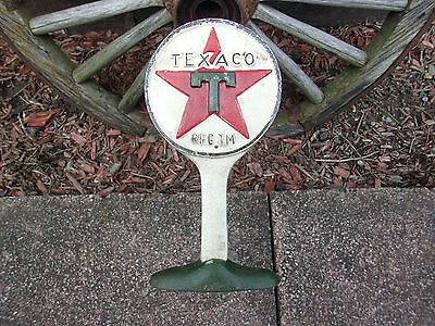Vintage Cast Iron Texaco Gas Station Advertising Doorstop