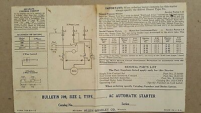 Vintage decal for Allen-Bradley AC automatic starter old electrical circuit labe