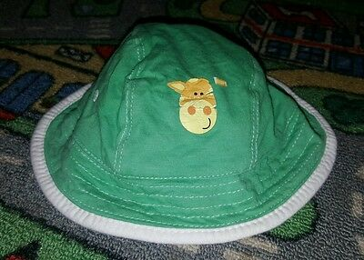 BABY BOYS Sz 00 green & white DYMPLES reversible hat CUTE!