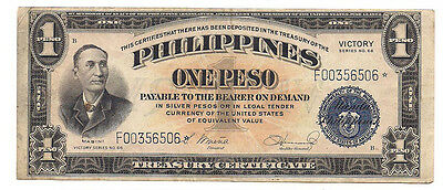 Philippines - ND (1944) One Peso Banknote (STAR NOTE! - P-94)