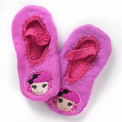 NWT Girls Lalaloopsy Crumbs Doll Face Mary Jane Slipper Socks Size 6-8.5 RV $12