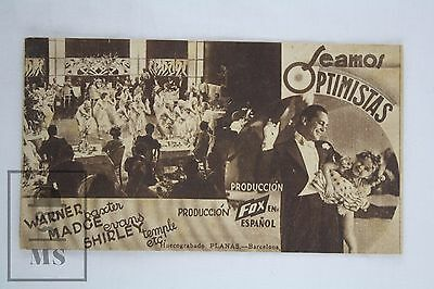 Shirley Temple, Madge Evans - Stand Up and Cheer! -1934 Original Cinema Leaflet
