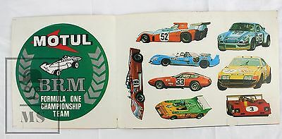 Vintage 1970's BRM Formula One Championship Team - Motul Advertising Stickers