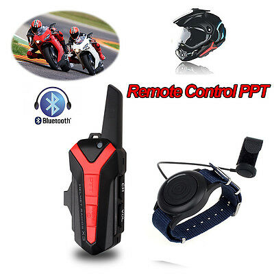 Motorcycle Helmet Bluetooth Headset Group 1.5-3KM Intercom+Remote Control PTT