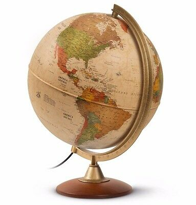 Globe Antique Style 30cm 'Colombo' Current Geographical Information