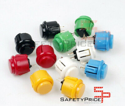 Pulsador Arcade Japones 24 mm Bartop Raspberry Stick Style Sanwa Pushbutton SP00