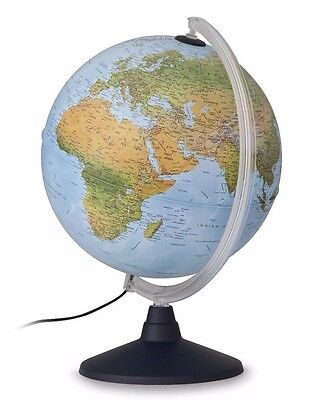 Globe 30cm Physical Features change to Political Features when Illuminated Elite