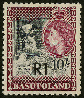 Basutoland - SG 68a - 1961 - 1r. on 10s. black and maroon - Unmounted Mint/MNH