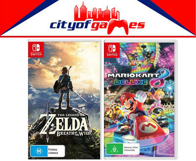 The Legend Of Zelda Breath Of The Wild & Mario Kart 8 Deluxe Switch New & Selaed