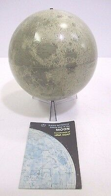 Vintage Rand McNally Lunar Moon Globe 12 Inch 1969 With Official Dial Soap Map