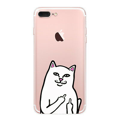 the latest 8bf49 be7fd RIPNDIP LORD NERMAL Clear Silicone Case Otterbox for iPhone 7 6 6s Plus