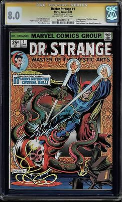 Doctor Strange #1 Cgc 8.0 Ss Stan Lee Signed Premiere Issue Cgc #1206791018