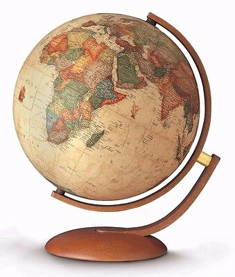 Globe 37cm ILLUMINATED Antique Style with Modern Cherry Wood Finish Optimus