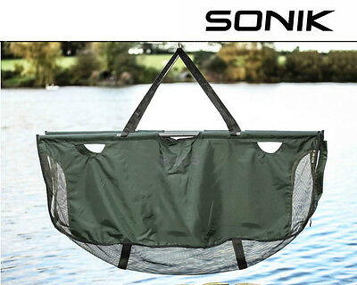 Sonik SKS Weigh Sling With Rods / Support Bars - Carp Fishing Sling - SKSWSWR