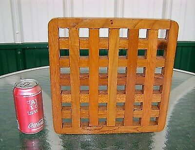 Authentic Teak Wood Air Grate From Salvaged Ship