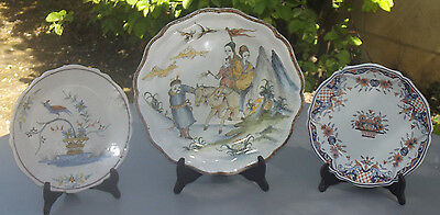 "Rare Ensemble Faience De Malicorne Decor "" Sinceny / Rouen / La Rochelle """