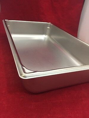 """NEW VOLLRATH Super Pan II Stainless Steel Tray 3004-0 14Qts. 21""""x13""""x4.25"""""""