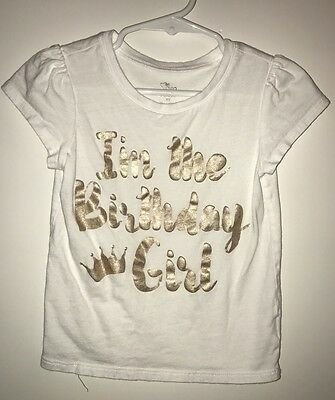 The Childrens Place Girls Birthday Shirt Size 4T EUC