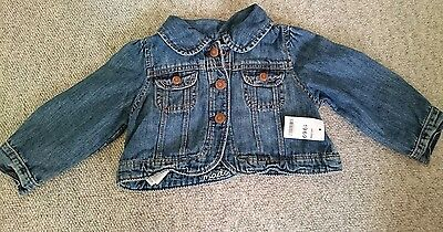 baby girls denim jacket. Gap. age 12-18 months. BNWT