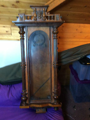 vienna clock case  with  face and mechanism,