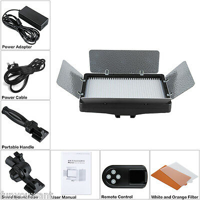 Excelvan LED Studio Video Light with 2.4G Wireless Remote Control for Camcorder