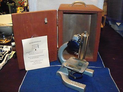 Vintage GSS Co. M16X Microscope in Wooden Box