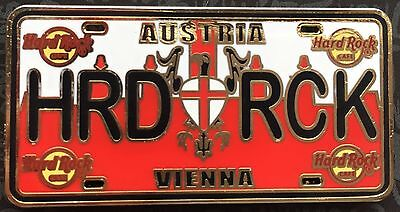 Hard Rock Cafe Vienna Austria License Plate CORE Pin NEW