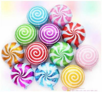 "18"" SWIRL CANDY Foil Round Candy Lollipop Balloons - Birthday Party Decoration"