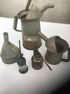 antique oil can lot