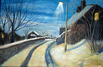 Art Original oil painting -  Pennine Winter  - by Gary Haigh