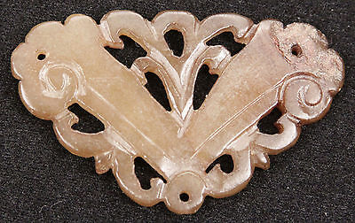 Antique Chinese Qing Dynasty Jade Carved Plaque Nephrite Jadeite China Old