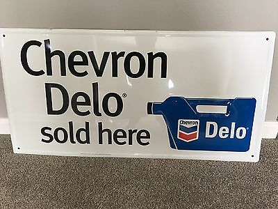Chevron Delo gasoline/oil and Snapper chalkboard embossed metal sign lot