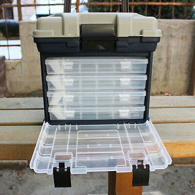 Portable Outdoor 5 Layer Big Fishing Tackle Tool Storage Box with Handle Plastic