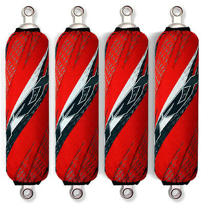 Red Shock Covers Honda Racing ATV TRX 700 TRX700 XX (For 4 shocks models)