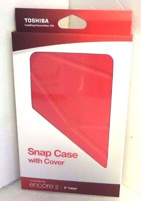 "Toshiba Encore 2 8"" Snap Case with Red Cover 